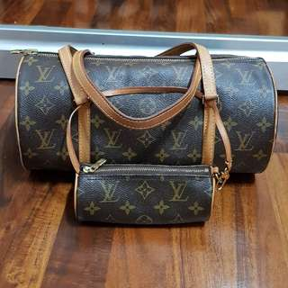 Authentic LV papillon 30 with baby papillon monogram