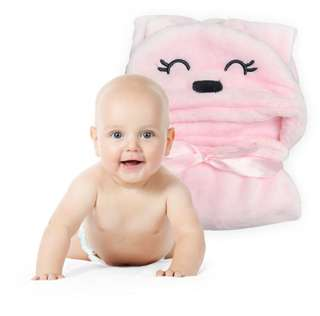 Toddler pink both towel with hook