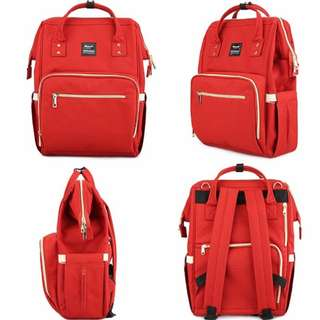 ❤ Anti-theft w/ USB Feature Diaper Bag/ Mommy Nursing Bag (Red)