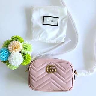 658bc02a7 BRAND NEW AUTHENTIC Gucci GG Marmont Matelassé Mini Bag Light pink