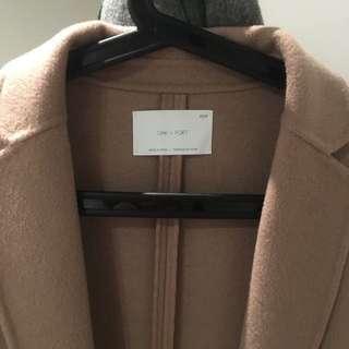 Oak + Fort Size XS Handmade Wool Coat