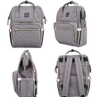 ❤ Anti-theft w/ USB Feature Diaper Bag/ Mommy Nursing Bag (Gray)