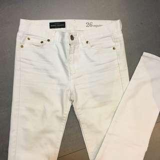 🚚 J Crew 白色牛仔褲