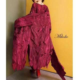Super Premium. Mihoko Pleat Dress and Outerwear. Free Size.