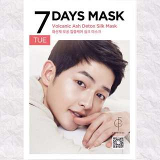 (75% Discount) FORENCOS SONG JOONG KI 7 DAYS MASK [TUESDAY]