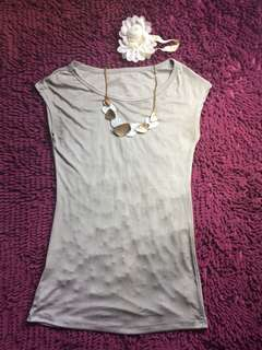 Grey stretchable blouse