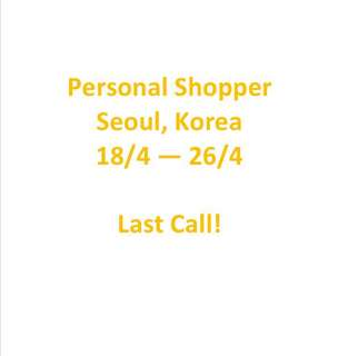 Seoul Korea Personal Shopper