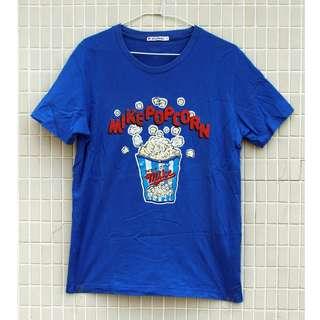 🚚 日本 古着/ Uniqlo 優衣褲 藍色 爆米花 古著 短T恤