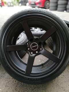Vossen cv3 15 inch sports rim saga flx tyre 90%. Jalan jalan dengan cewek shah alam, boss ini rim confirm buat ramai orang kirim salam!!!