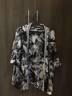 Printed Flowy Kimono