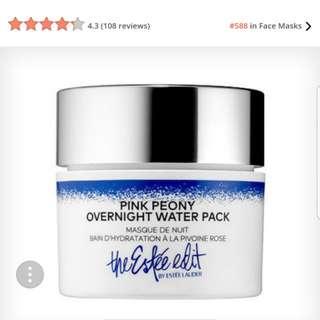 Estee Lauder Peony overnight water pack mask