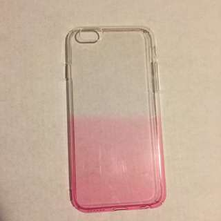 Iphone 6/6S pink ombre coloured clear case