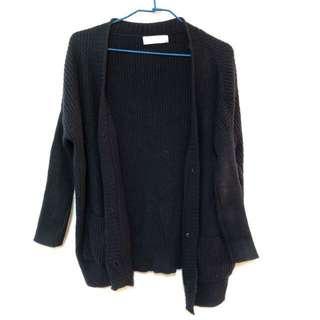 🚚 深藍色針織外套