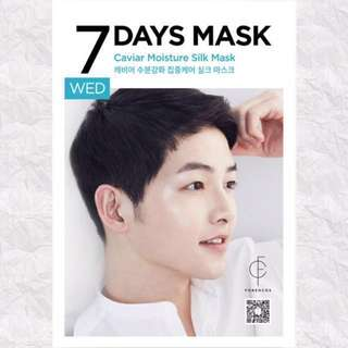 (75% Discount) FORENCOS SONG JOONG KI 7 DAYS MASK [WEDNESDAY]