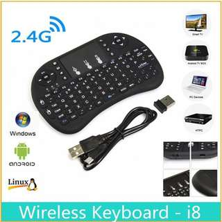 Brand New i8 Mini Wireless Gaming Keyboard  2.4G Touched Smart TV box Laptop Tablet PC