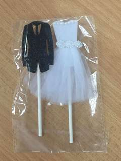 Cake Topper - Bride & Groom