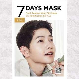 (75% Discount) FORENCOS SONG JOONG KI 7 DAYS MASK [FRIDAY]