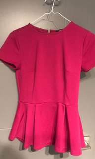 Pink peplum top forever 21