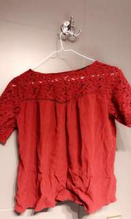 Top with lace zara