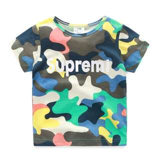 Camo Tee Tshirt Kids Boys Children