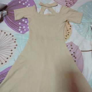Nude Choker Dress