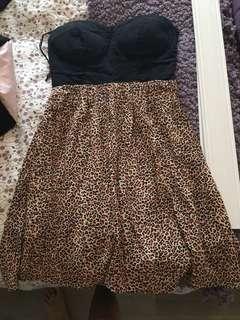 Cheetah print dress size small