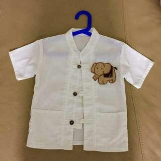 Boy''s clothing button  short sleeve shirt