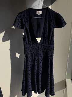 Aritzia Sunday Best Dress - Navy, Size 4