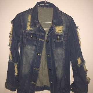 Imported Ripped Denim Jacket