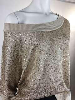 Gold & Glitter Knit Top