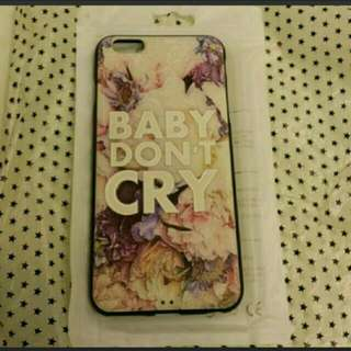 #2bdayship  I Phone 6+ case (Baby Don't  Cry厚身圖案有凹凸感防滑)