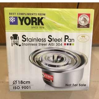 Zebra Stainless Steel Pan (18cm)