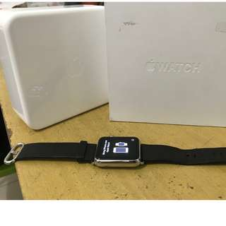Apple watch stainless classic - sport strap black 42 mm