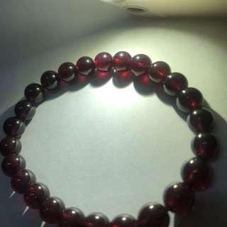 Natural Garnet/Pyrope Bracelet 7mm+天然红石榴石手串7mm+