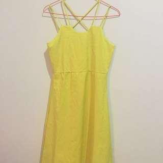 Yell-O Midi Dress