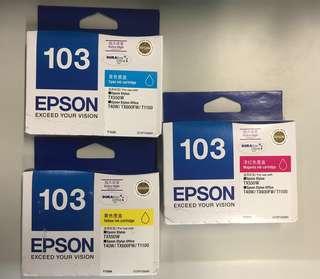 全新Epson打印機墨盒,$205包3個。
