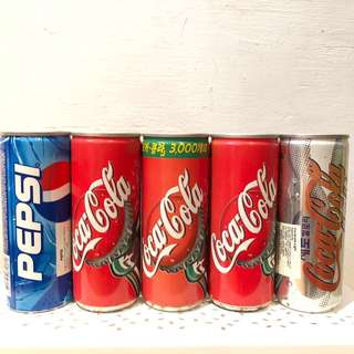 ~BN~ Pepsi and Coca Cola Cans from Korea