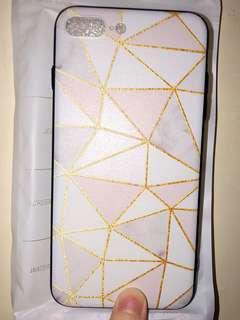 文青 大理石 幾何圖案 粉色 iPhone 7 plus Case 手機 包邊 硬殻
