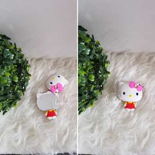 NEW Cermin hello kitty mini lipat gantungan kunci keychain