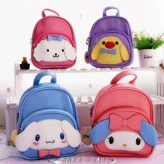 PO Cartoon 3D Kids 2 Ways Bag