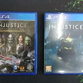 PS4 Injustice 1+2 (打包出讓)