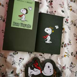 Snoopy passport wallet and Snoopy Luggage Tag