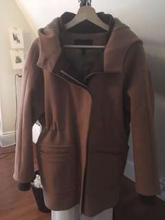 BCBG Camel Coloured Wool Coat (XS)