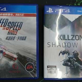 PS4 NFS Rivals + Killzone Shadow Fall