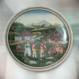 Langenthal display plate, Swiss