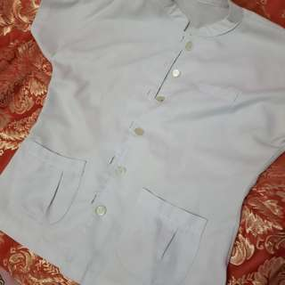 MARKED DOWN!!!! SALE!!!! 100 ONLY!! Preloved Velez White Chinese collar uniform