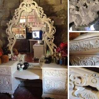 Antique Narra Mirror Dresser