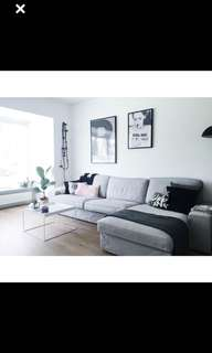 3 seater modular sofa with chaise