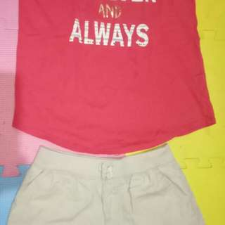 Place Shorts &Crazy 8 top(Size 10-12y/o)