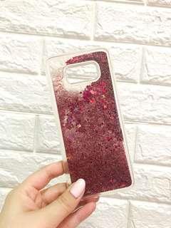 Samsung S8 plus case - Pink liquid glitter